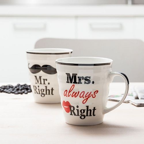 Hrnky Mr right a Mrs always right
